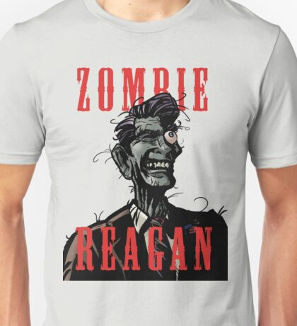 Zombie Reagan in Color Unisex T-Shirt