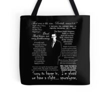 Giles in his own words - white Tote Bag
