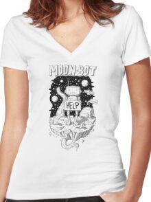 Moonbot & Fwoarg Women's Fitted V-Neck T-Shirt