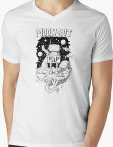 Moonbot & Fwoarg Mens V-Neck T-Shirt