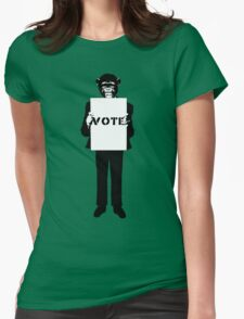 Monkey See, Monkey Do - Vote For Me! Womens Fitted T-Shirt