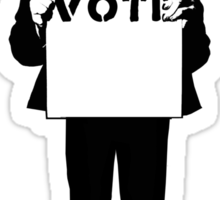 Monkey See, Monkey Do - Vote For Me! Sticker