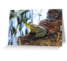 """Should I Jump"" Frog Greeting Card"
