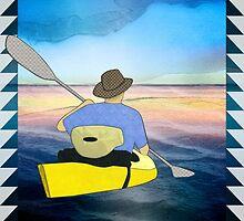 Kayak Man by Janet Carlson