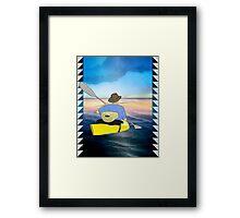 Kayak Man Framed Print