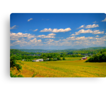 Rolling Hills and Bluffs Canvas Print