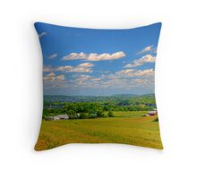 Rolling Hills and Bluffs Throw Pillow