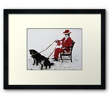NEWSFLASH !! -  REVISITED - CONFIRMED -SANTA HIT BY CREDIT CRUNCH !!!! Framed Print