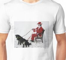 NEWSFLASH !! -  REVISITED - CONFIRMED -SANTA HIT BY CREDIT CRUNCH !!!! Unisex T-Shirt