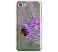 Bumble Bee on pink Flowers iPhone Case/Skin