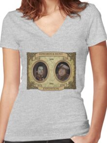 Almost Heroes - Edwards and Hunt Expedition Women's Fitted V-Neck T-Shirt