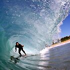 Hayden Cox - Inside a Mona Vale barrel by Alex Marks