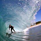 Hayden Cox - Inside a Mona Vale barrel by Alex Marks