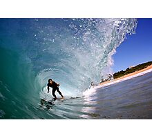 Hayden Cox - Inside a Mona Vale barrel Photographic Print