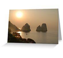 Faraglioni. Sunrise Greeting Card