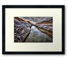 Gloom Channel Framed Print