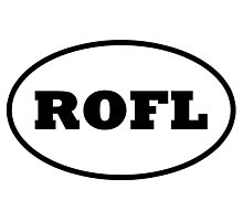ROFL - Rolling On Floor Laughing Photographic Print