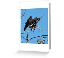 Crow kids are sooooooo needy Greeting Card