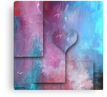 Love Abstract 47- wall art + T-shirt +Kids Clothesּ+Clothing+Products Design Canvas Print