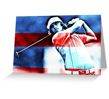 Ricky Fowler Patriot Greeting Card