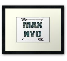 MAX NYC Framed Print