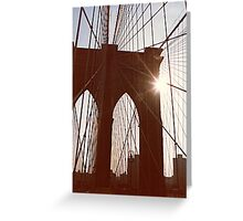 Brooklyn Bridge Web Greeting Card