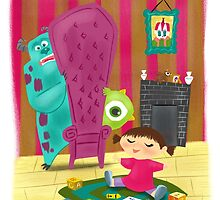 Monsters Inc Painting by sailormary