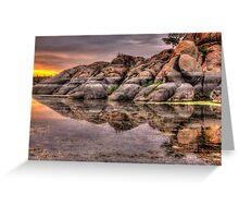 Mirror Rock Greeting Card