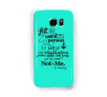 Is Fat the Worst We Can Be? Samsung Galaxy Case/Skin