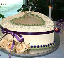 Wedding cake wide view by ♥⊱ B. Randi Bailey