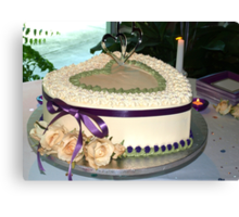 Wedding cake wide view Canvas Print