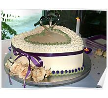 Wedding cake wide view Poster