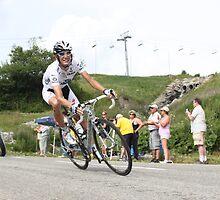 Andy Schleck Col de la Madeleine TdF 2010 by Liam Fitzpatrick