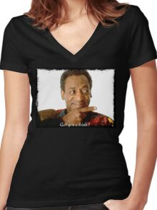 Get you a Drink? Bill Cosby Women's Fitted V-Neck T-Shirt
