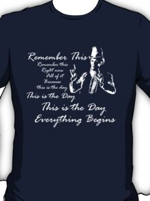Everything begins (white) T-Shirt