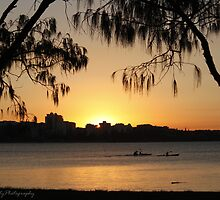 A winter QLD sunset.  by Amy Bowman