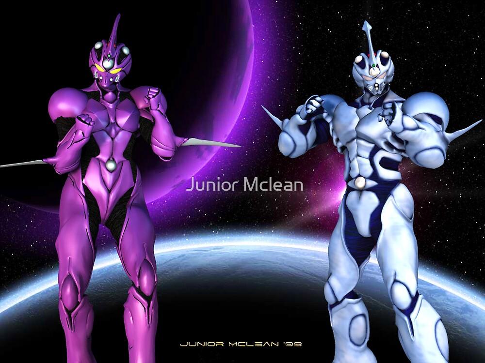 Bio-Booster Armored Guyver 1 and Female Guyver 2 by Junior Mclean
