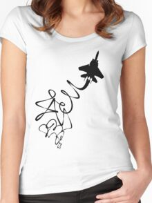 Evasive maneuvers Women's Fitted Scoop T-Shirt