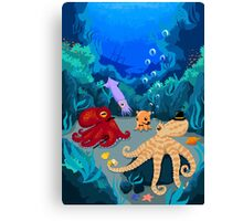 The League of Extraordinary Tentaclemen Canvas Print