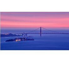 San Francisco Golden Gate Bridge at sunset Photographic Print