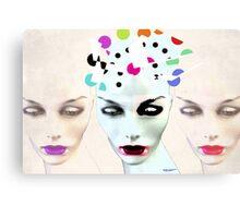 Faces 10 Canvas Print