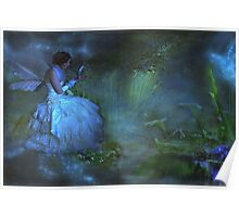 """She sat beside the Dream Pond and wrote to the Lavender Fairy ..."" Poster"