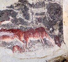 Ancient African Bushman Rock Art 02 by serendip