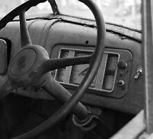 Old truck Steeringwheel by Nigel Fox