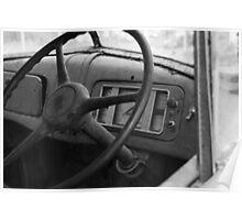 Old truck Steeringwheel Poster