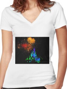 Magical Night Women's Fitted V-Neck T-Shirt
