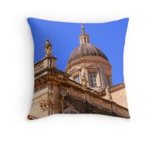 Closeup of the Dubrovnik Cathedral  Throw Pillow