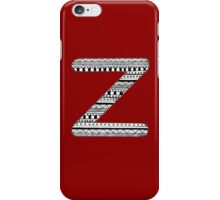 'Z' Patterned Monogram iPhone Case/Skin