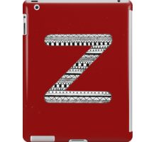 'Z' Patterned Monogram iPad Case/Skin