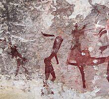 Ancient African Bushman Rock Art 01 by serendip
